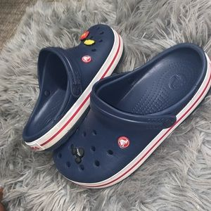 Navy blue Crocband Crocs